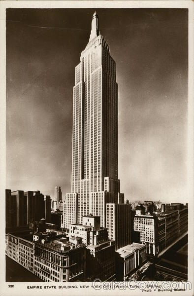 Empire State Building, New York City (World's Tallest - 1248 feet)