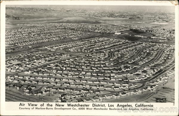 Air View of the New Westchester District Los Angeles California