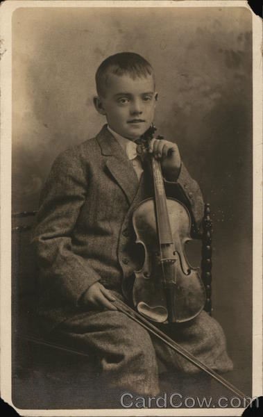 Portrait of Boy and Violin Boys