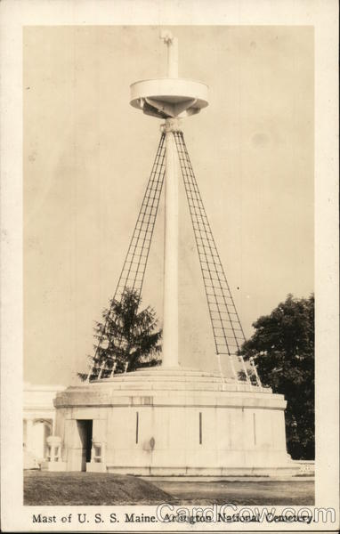 Mast of USS Maine, Arlington National Cemetery Virginia
