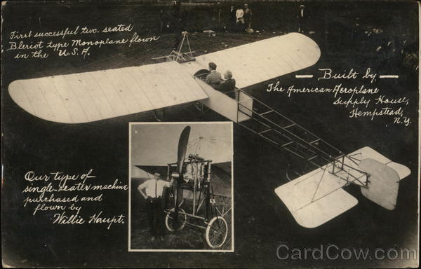 Bleriot Monoplanes, American Aeroplane Supply House Hempstead New York