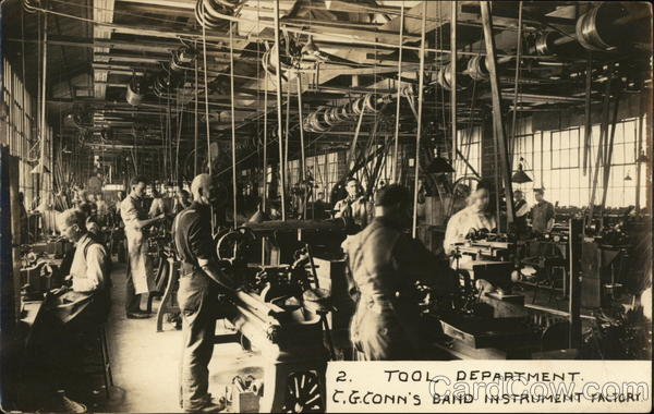 Tool Department, C.G. Conn's Band Instrument Factory Elkhart Indiana