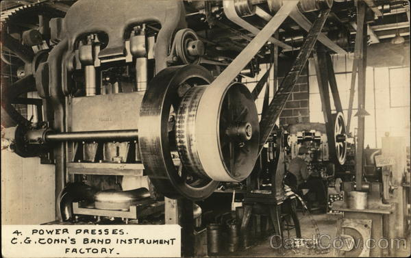 Power Presses, C. G. Conn's Band Instrument Factory Elkhart Indiana