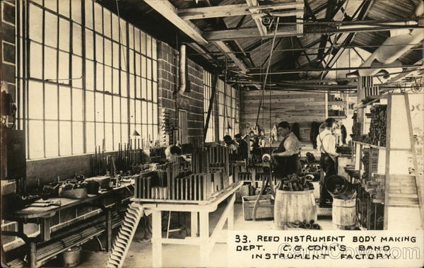 Reed Instrument Body Making Dept. - C. G. Conn's Band Instrument Factory. Elkhart Indiana