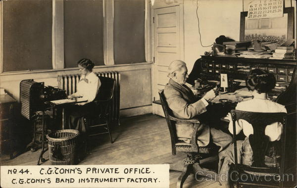 C. G. Conn's Private Office, C. G. Conn's Band Instrument Factory Elkhart Indiana