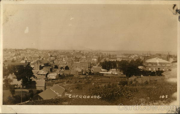 View of Cherbourg France