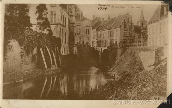 Old Corner of Town 1914 Diksmuide Belgium Benelux Countries