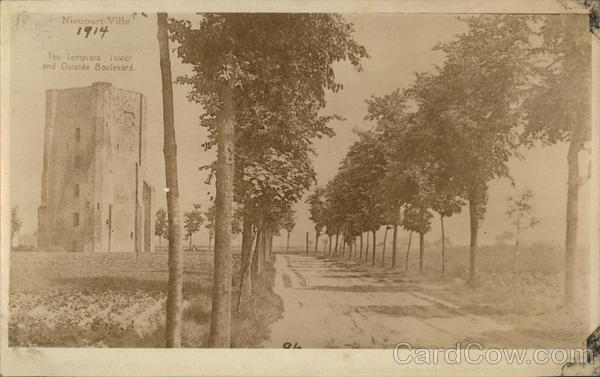 The Templars Tower and Outside Boulevard Nieuwpoort Belgium