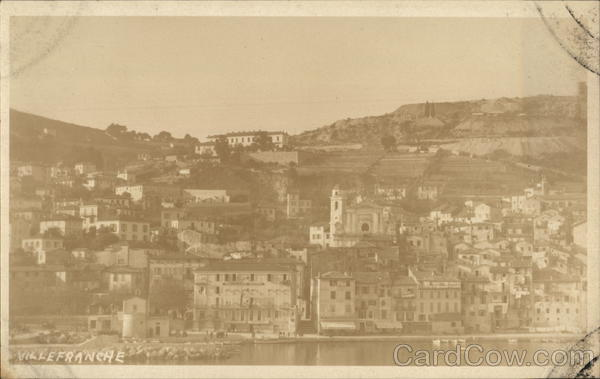 View of Town Villefranche France