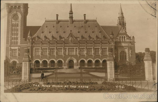 The Peace Palace at the Hague The Hauge Netherlands