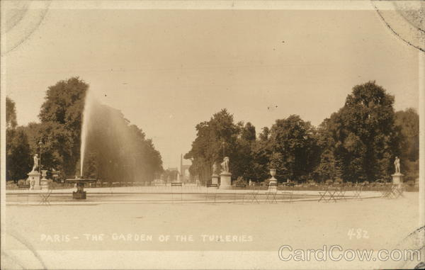 The Garden of the Tuileries Paris France