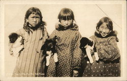 Six Little Arctic Natives Postcard
