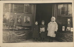 Three Children Outside Photography Studio