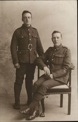 Portrait of Two World War I Soldiers