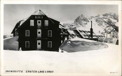 Snowdrifts - Crater Lake Lodge