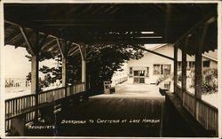 Boardwalk to Cafeteria at Lake Harbor Postcard