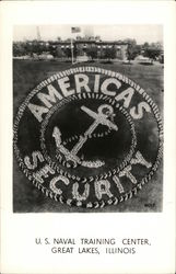 America's Security - U. S. Naval Training Center Postcard