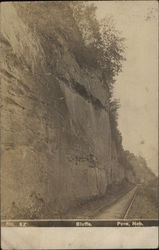 Bluffs - With Railroad Track at Bottom