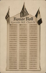 Honor Roll - Epworth M. E. Church