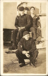 Four Sailors on Ship