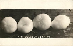 Large Hail Stones July 3rd 1914.