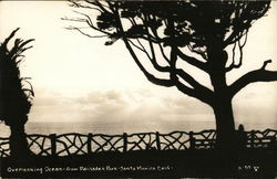 Overlooking Ocean From Palisades Park Postcard
