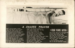 "Sailor in Bunk ""A Sailor's Prayer"""