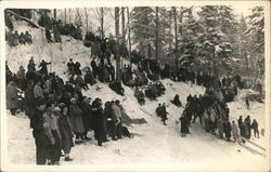 People Gathered on Snowy Slope