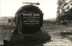 Redwood Empire - Sign with Person Gesturing