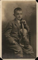 Portrait of Boy and Violin
