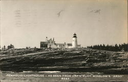"Pemaquid Lighthouse - As Seen From Cap'n Eliot Winslow's ""Argo"""