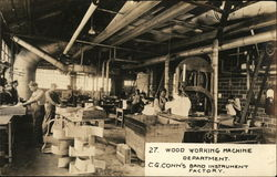 Wood Working Machine Department, C. G. Conn's Band Instrument Factory
