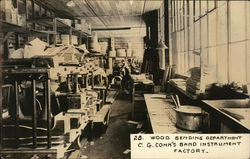 Wood Bending Department, C.G. Conn's Band Instrument Factory