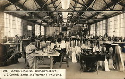 Case Making Department, C. G. Conn's Band Instrument Factory