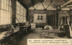 String Instrument Department, C. G. Conn's Band Instrument Factory
