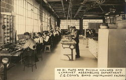 C.G. Conn's Band Instrument Factory Postcard