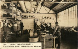 Drum Department, C. G. Conn's Band Instrument Factory