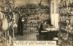 Cornet and Trumpet Testing Dept., C.G. Conn's Band Instrument Factory