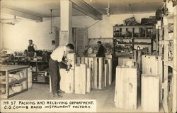 Packing and Receiving Department, C. G. Conn's Band Instrument Factory