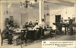 Accounting Department - C. G. Connn's Band Instrument Factory