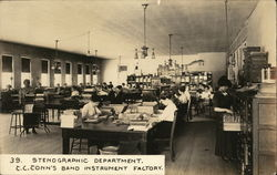 Stenographic Department, C. G. Conn's Band Instrument Factory