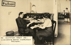 Dictation Room No. 1, C. G. Conn's Band Instrument Factory