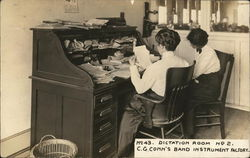 Dictation Room No 2. C. G. Conn's Band Instrument Factory
