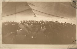 Soldiers at Attention in Tent
