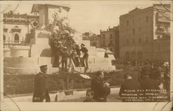Placing USS Pittsburg's Decoration on Spanish American War Monument
