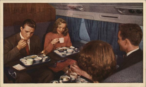 United Air Lines - Mealtime Airline Advertising