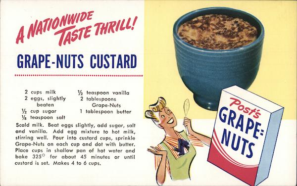 Grape-Nuts, C.W. Post Advertising