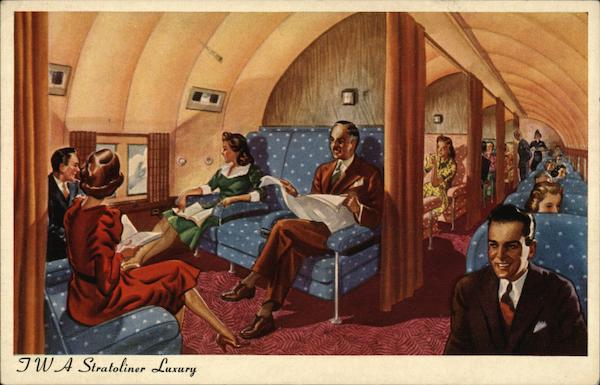 TWA Stratoliner Luxury Advertising