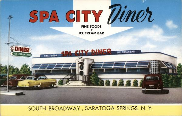 Spa City Diner Saratoga Springs New York Advertising