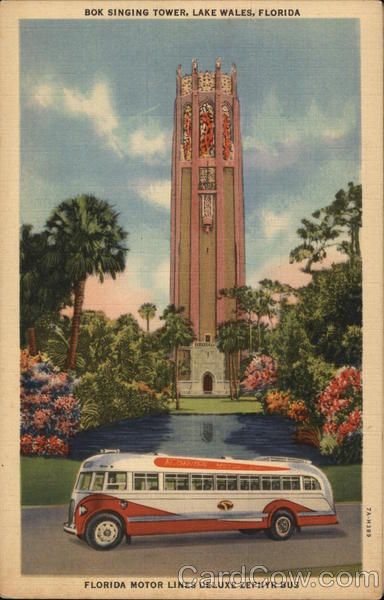 Bok Singing Tower Lake Wales Florida Advertising